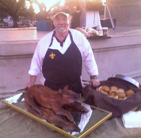 Chef Emile and a Pork Stuffed Cochon de Lait