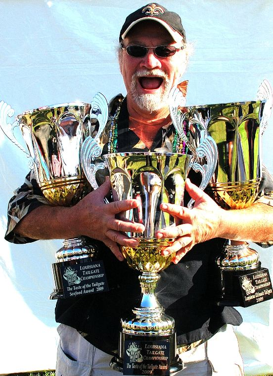 Chef Emile Stieffel with trophies