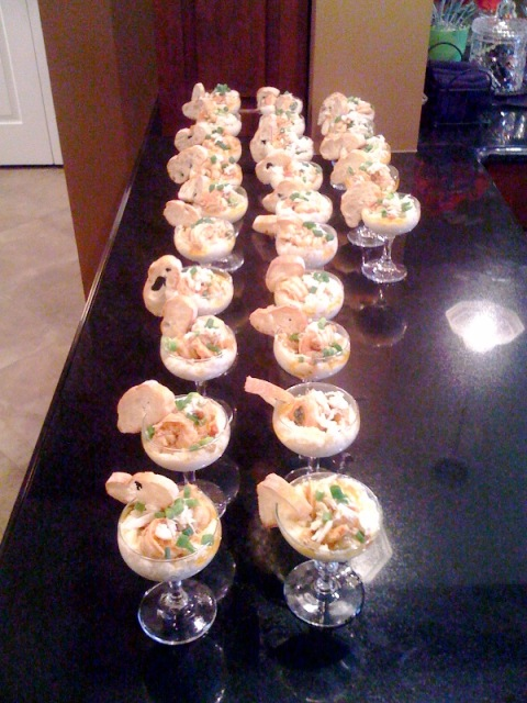 New Orleans Style BBQ Shrimp and Creamy Grits Martinis