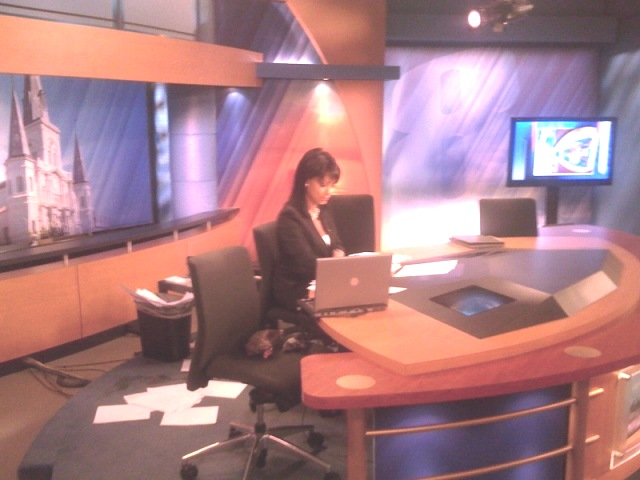Liz Reyes on Fox 8 news set