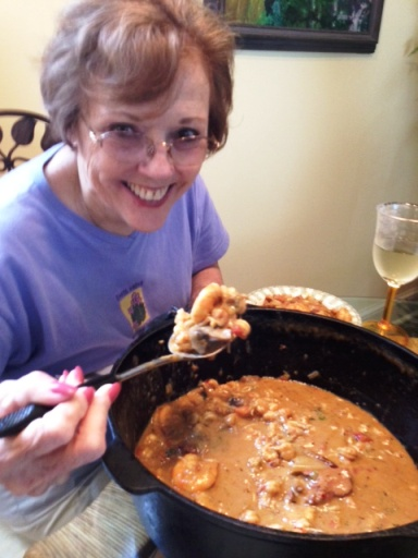 Karen and Crawfish Etouffee