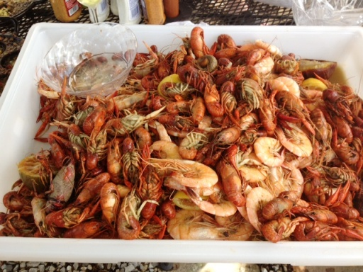 Boiled Crawfish and Shrimp