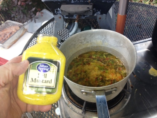 Silver Spring Foods Dill Mustard used for Grilling Oysters