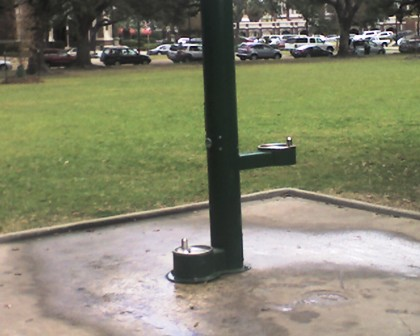 Drinking fountain for people and dogs!!